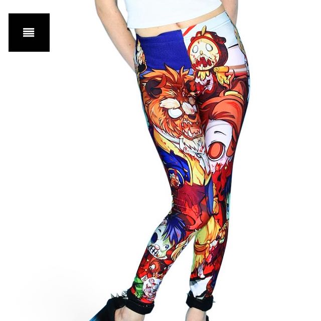 Living Dead Clothing Zombie Beauty And The Beast Leggings
