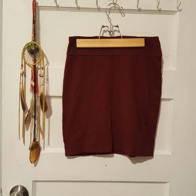 Maroon Tight Skirt XSmall