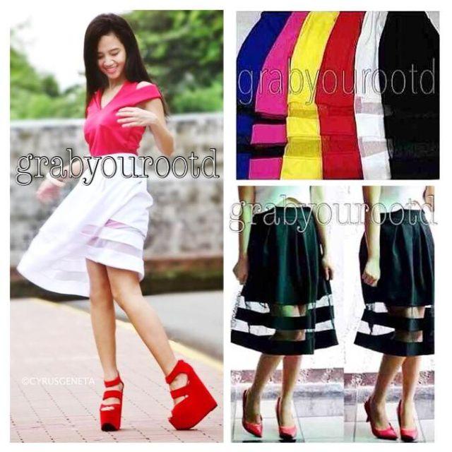 Mesh Mid Skirt