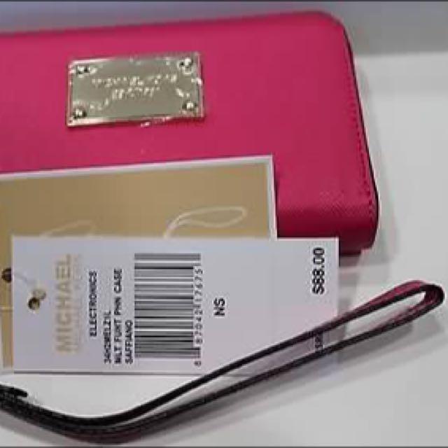 Michael Kors Hot Pink Wristlet