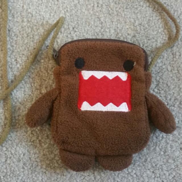 Mini Furry Domo String Bag