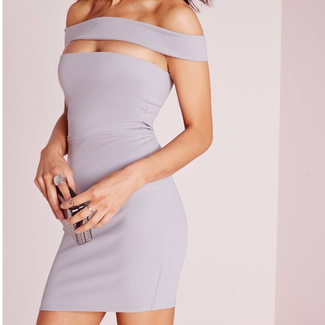 Missguided off shoulder bardot dress