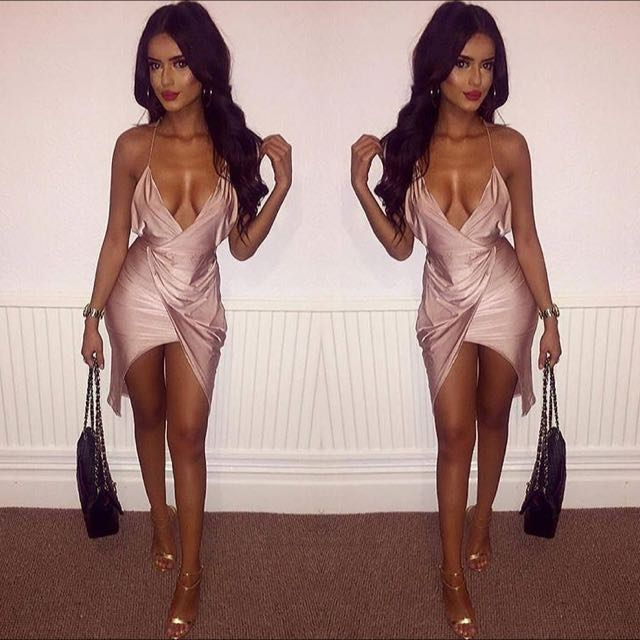Oh Polly Light Pink Sexy Party Dress