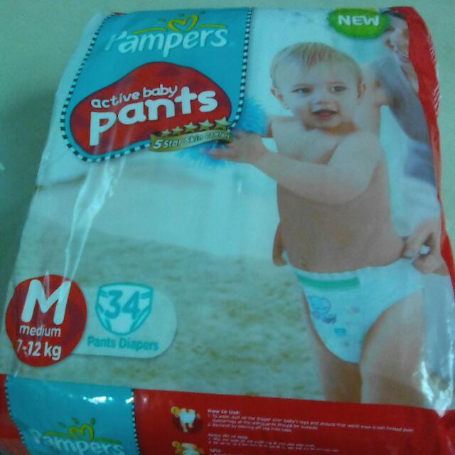 Pampers M Pants 34pcs