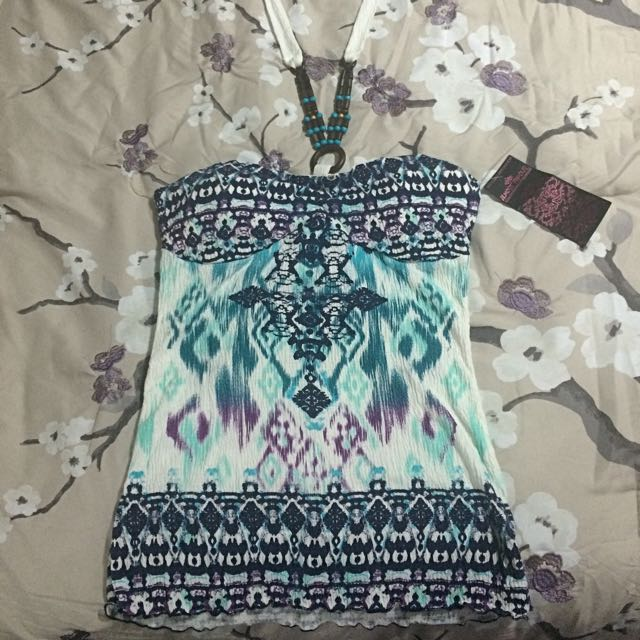 NEW Patterned Halter Top