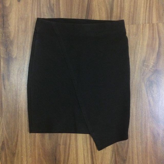 Pull&Bear Black Stretch Mini Skirt