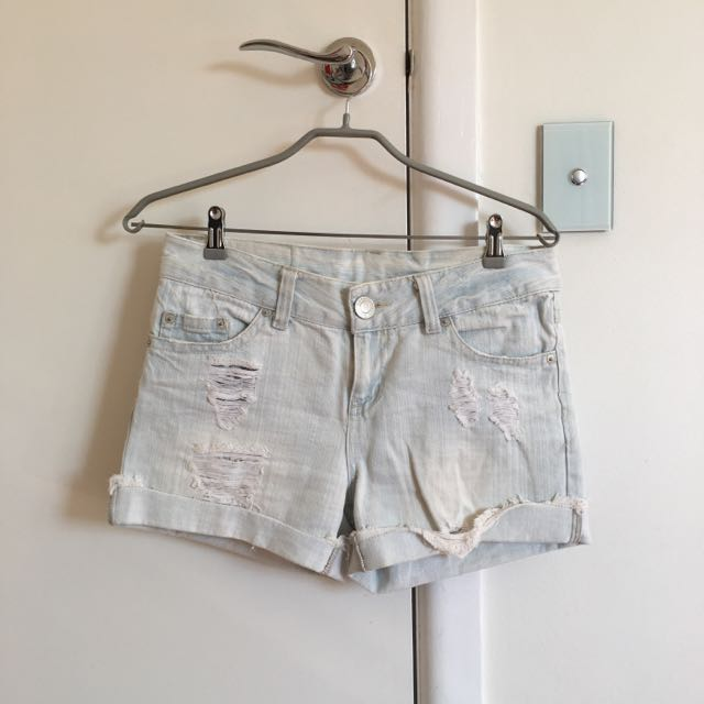 Ripped Denim Shorts Size 10-12