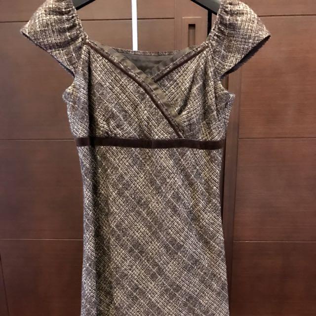 日本Rope咖啡色洋裝