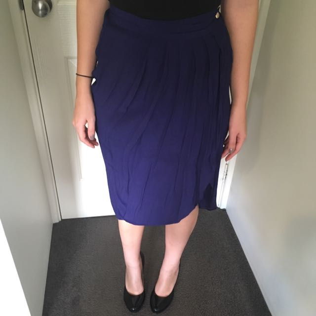 Royal Blue Forever New Skirt