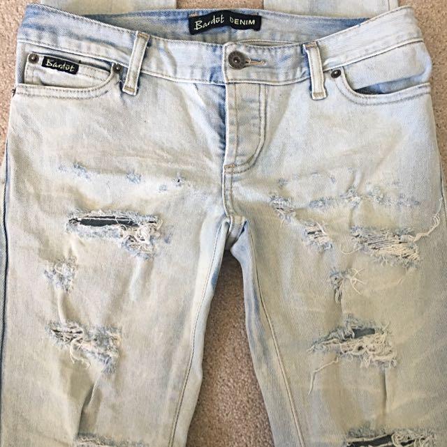 Size 10 Bardot Jeans Destroyed Slim Fit