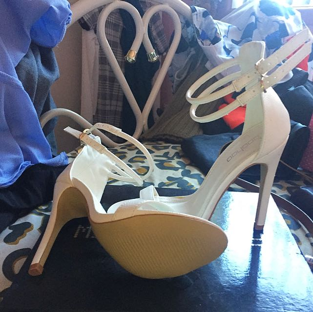 Size 3 US Size 6 AUS White High Heels From Boohoo