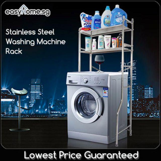 Stainless Steel Washing Machine Rack- Space Saving Shelving
