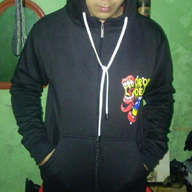 sweater zipper hoodie DROP DEAD
