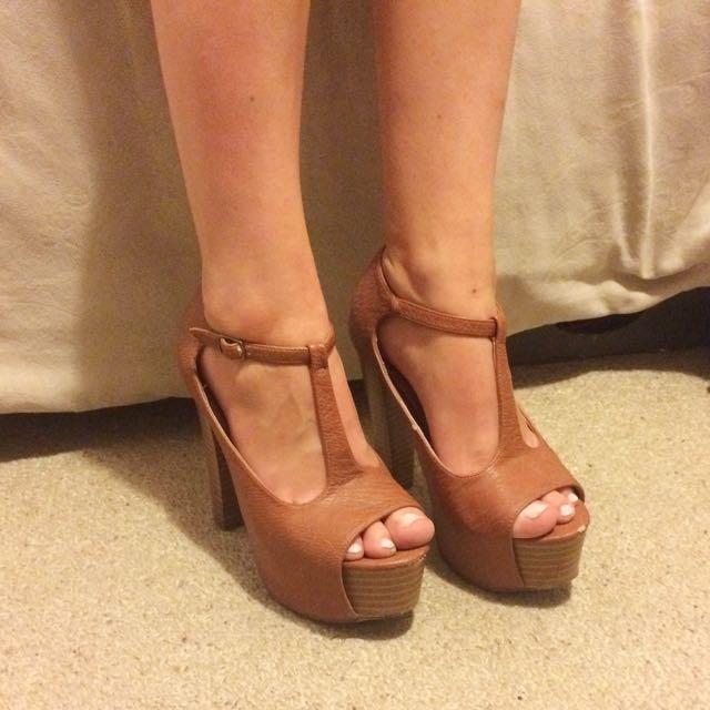 Tan Platform Shoes (Rubi) Size 38