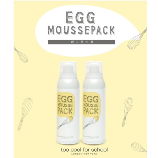 too cool for school  白滑雞蛋面膜  EGG MOUSSE PACK  100ml