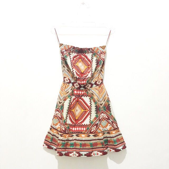 Tribal Print Tube Dress