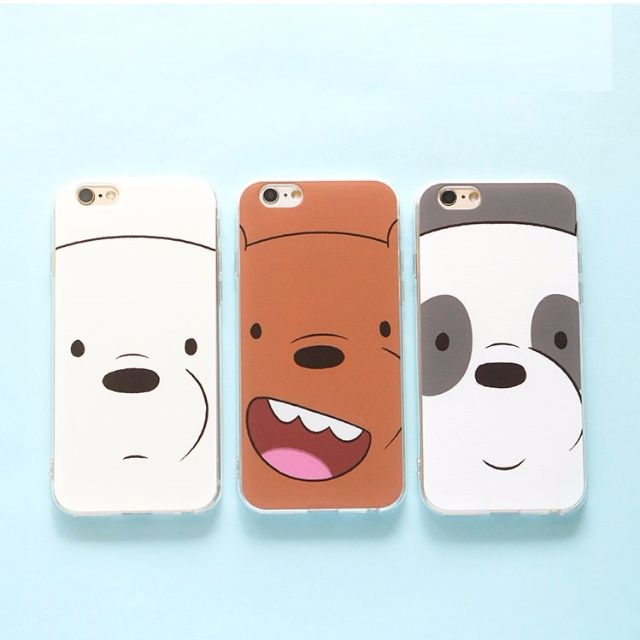 buy online dd1ff 03a59 We Bare Bears iPhone 5/5s 6/6s 6/6s 7 iphone 7 i7 plus mobile phone cover  case