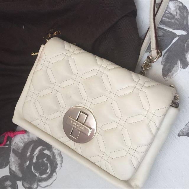 White Kate Spade Leather Crossbody Bag