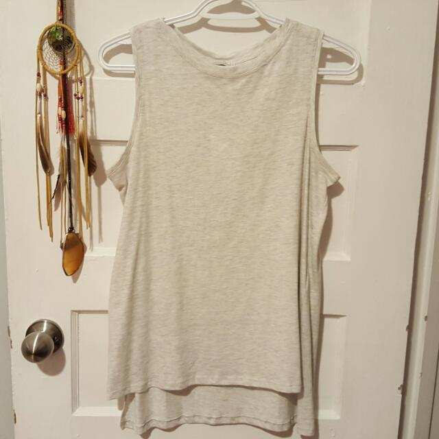 White/Grey Zara Tanktop Small