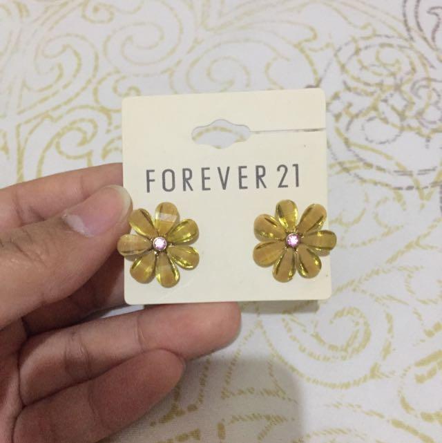 Yellow Flower Earings