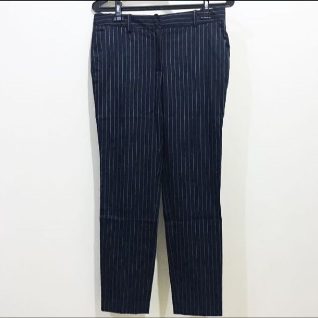 Zara Pinstripes Navy Pants size S