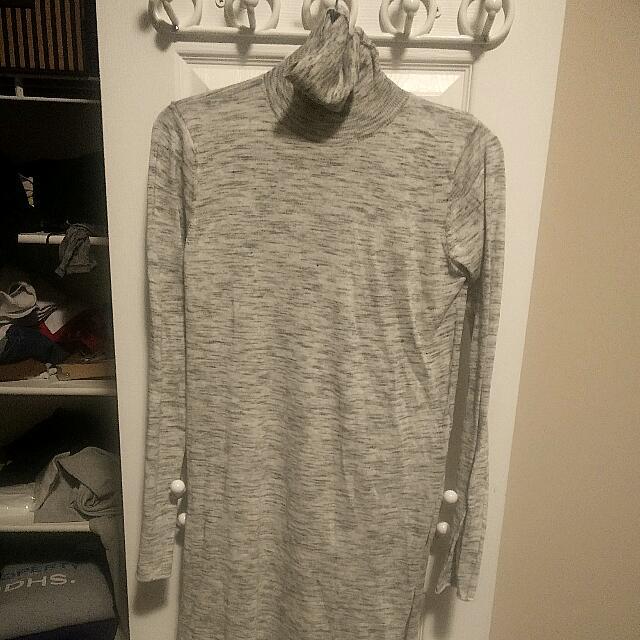Zara Turtle Neck Long Sweater With Slide Slits