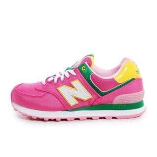 new Balance 574系列粉紅慢跑鞋