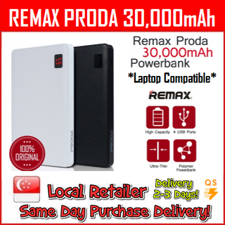 Original Remax PRODA 30,000 mah Mobile / Laptop Powerbank
