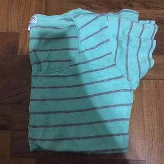 Cotton On Green Strip Shirt