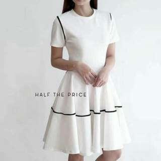 HTP White formal dress REPRICED