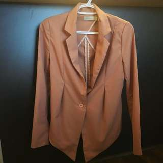 Pale Pink Thin Blazer