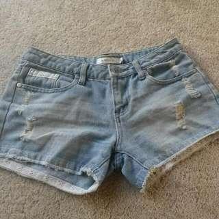 Mink pink denim Shorts