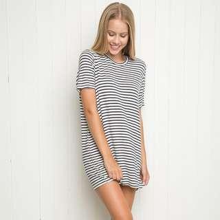 Brandy Melville Stripe Tshirt Dress