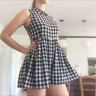 Missguided Check Playsuit