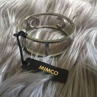 Mimco Silver Estatica Wide Bangle