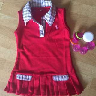 RESERVED FOR SHI.kiti Red Polo Dress