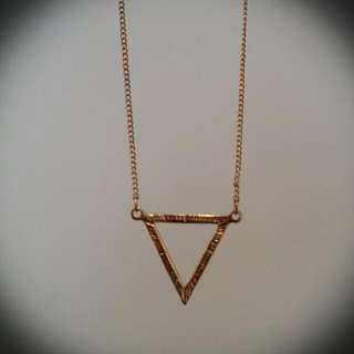 Louisa Gold Triangle Necklace