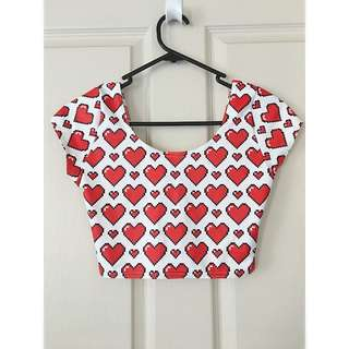Black Milk Gamer Hearts Crop