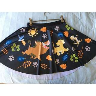 Black Milk Lion King Skater Skirt