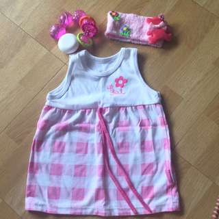 Reserved to Jayme Kids Basix Dress 0-6months