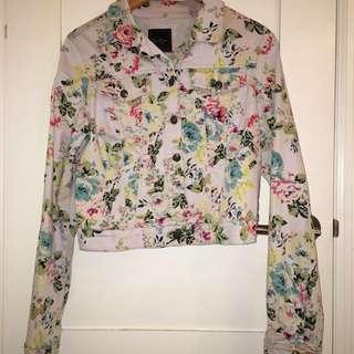 New Floral Denim Jacket
