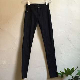 Black Skinny Mid High Zee.Gee Jeans