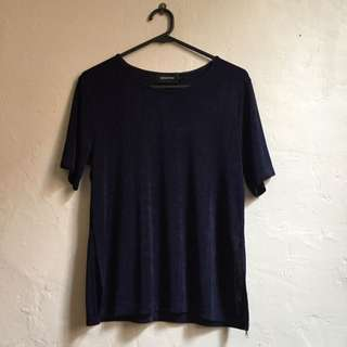 Mink Pink Over Sized Navy T-shirt