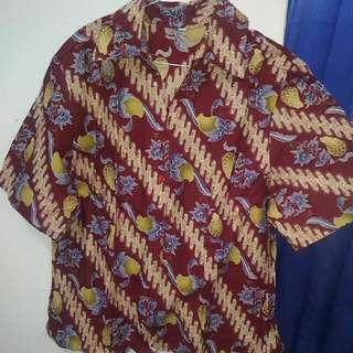 Preloved Kemeja Batik Wanita