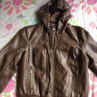 Brown Leather Jay Jays Jacket