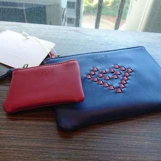 現貨 香港品牌 mizzue 編織愛心包 藍色款