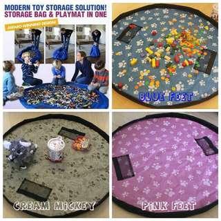 LARGE Tas Simpan Mainan Toy Bag Storage Lego Barbie Playdoh Hotwell