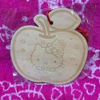 Authentic Sanrio Original Hello Kitty Wooden Hanging Deco