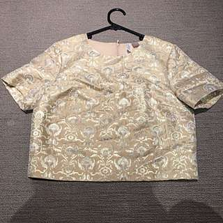 H&M Gold Cropped Blouse