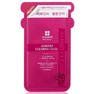 [LEADERS] AMINO Clearing Mask - 1 Pack (10 pcs)